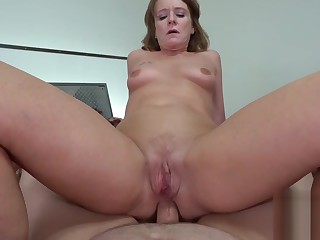 I hate my Boss but I have to let him FUCK MY ASS as I need this job #anal #asstomouth #facial