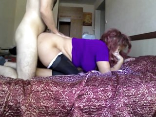 Stepmom wants to have anal sex on bed with her son. Real sex mom & stepson