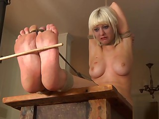Mature Blonde Bbw Slut Entangled In Fetish Bdsm