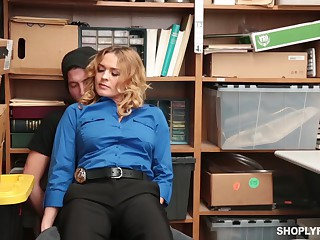 Krissy Lynn likes to get caught shoplifting, because she always gets fucked to learn the lesson