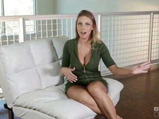 Busty, blonde housewife, Brittney Amber likes to fuck her lover while her husband is not at home