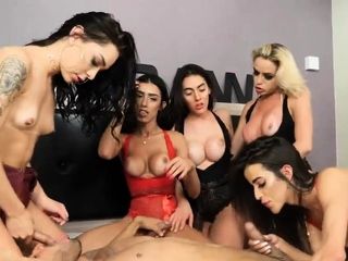 RAw Brazilian Transsexual Orgy