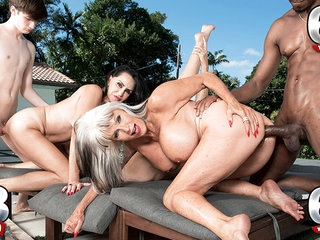 Three Gilfs, Two Cocks And Chery's First Dp - Chery Leigh, Rita Daniels, And Sally D'angelo - 60PlusMilfs