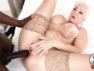 It's Big, It's Black And It's Cumming In Seka's Ass - Seka Black And Jax Black - 60PlusMilfs