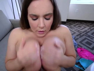 Natasha makes sure Tony releases his jizz load on her ass