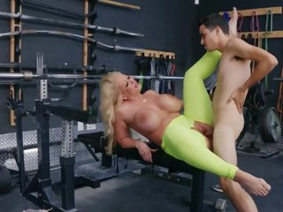 Alura Jenson In Fatty Mommy Spread Her Legs In Tights For Real Sex With A Youngster