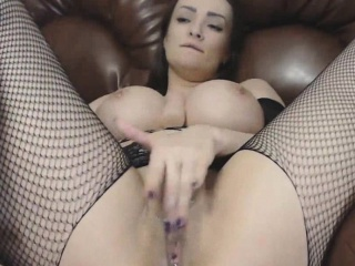 Busty Milf DP Of Extremely Pierced Pussy And Ass